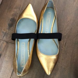 Marc Jacobs Gold slip ons